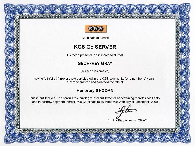 Aussiemate Certificate