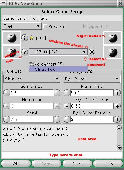 New Game window screen shot