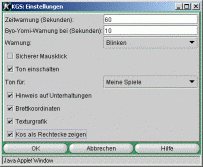 Das Einstellungen-Fenster des Browser-Applets