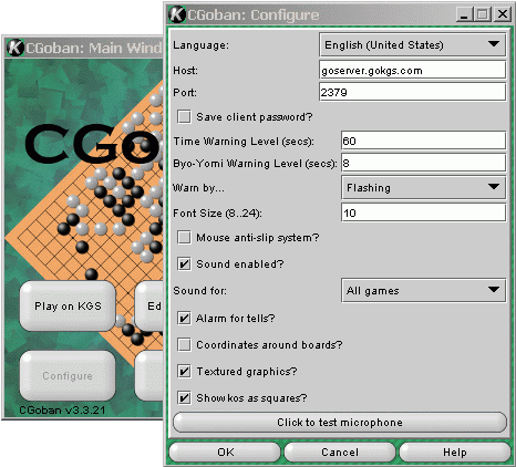 "Screen shot showing the ""Test Microphone"" button"